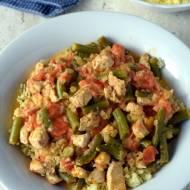 Kuskus z kurczakiem i fasolką szparagową