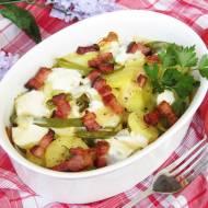 Zapiekanka z ziemniakami, boczkiem i fasolką