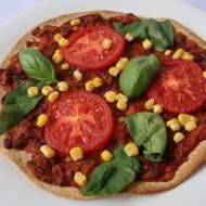 Pizza meksykańska na tortilli