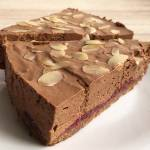 Ciasto mus czekoladowy z malinami