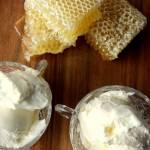 Miodowe lody domowe