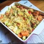 Zapiekanka warzywna z tuńczykiem i serem
