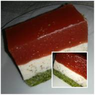 ciasto szpinakowe z arbuzem  ---  torta di spinaci con anguria