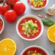 Letnie gazpacho z pomarańczami (Gazpacho alle arance)