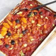 Zapiekanka z fenkuła, ziemniaków i pomidorów