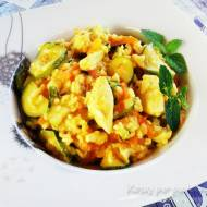 Dietetyczne risotto z cukinią i kurczakiem