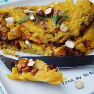Wegański omlet z kurkami