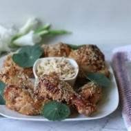 Pieczone podudzia kurczaka w marynacie z masła orzechowego