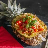 Smażony ryż w ananasie