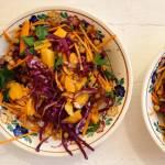 Piątek: Sałatka z mango, czerwonej kapusty i cieciorki