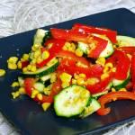Sałatka z duszonych warzyw