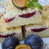 Ciasto ze śliwkami i kruszonką