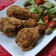 Pałki z kurczaka smażone na głębokim oleju