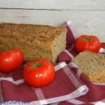 Chleb pszenno - żytni na zaczynie ze złotym lnem