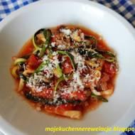 Spaghetti z cukinii - fit obiad