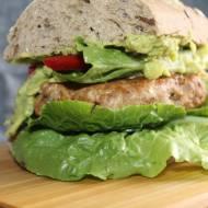 zdrowy burger z awokado