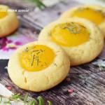 Ciasteczka thumbprins z mango i cukrem rozmarynowym