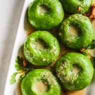 Zielone kluski śląskie (ze szpinakiem)