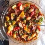 Pieczone letnie warzywa w pomidorach / Roasted summer vegetables with tomato sauce