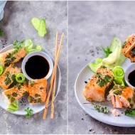 Smażone spring rollsy z łososia / Fried spring rolls with salmon