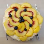 Tort brzoskwiniowy (bez mleka i śmietany)