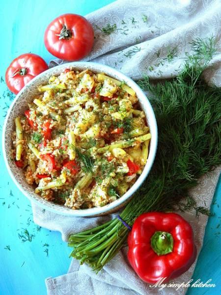 Kasza z sezonowymi warzywami
