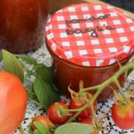 przetwory - pomidory z bazylią