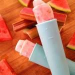 Lody rabarbarowo – jogurtowe. Prosty deser dla dzieci.