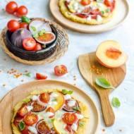 Pizzerki na spodzie z kaszy jaglanej i soczewicy