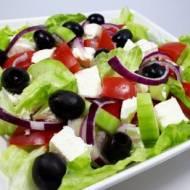 SAŁATKA GRECKA (keto, LCHF, optymalna, bez glutenu)