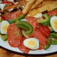 """""""Niecodzienna"""" sałatka obiadowa z przepiórczymi jajkami"""