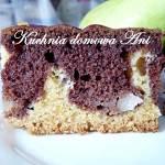 Ciasto marmurkowe z gruszkami