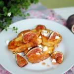 Tosty francuskie z kozim serem i karmelizowanymi figami