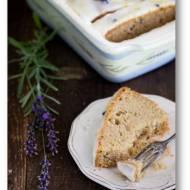Ciasto cytrynowo lawendowe z orzechami nerkowca