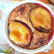 Pieczona gryczanka ze śliwkami i czekoladą :)