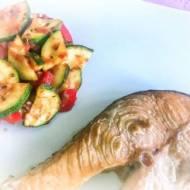 Łosoś z warzywnym ratatouille