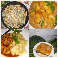 4 propozycje na obiad – pierogi, gołąbki, makaron z kurkami i kluseczki z mięsem