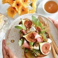 Tosty na śniadanie z figą, serem pleśniowym i prosciutto di Parma!