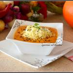 Zupa z pieczonej dyni i świeżych pomidorów