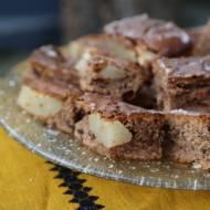 Ciasto czekoladowe z gruszkami, pychotka