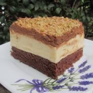 Ciasto Monte na kakaowym biszkopcie