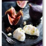 Ricotta z białą czekoladą, z figami i anyżowym syropem