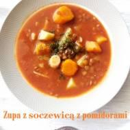 Zupa z soczewicą z pomidorami