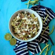Sałatka z kuskusem, fasolką szparagową i serem feta