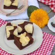Kakaowo-serowe ciasto.