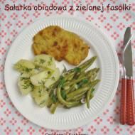 Sałatka obiadowa z zielonej fasolki.