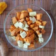 Słodkie ziemniaki pieczone z tofu
