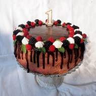 Tort malinowo czekoladowy
