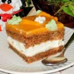 Ciasto marchewkowe z kremem mascarpone i marchewkowym budyniem