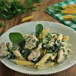 Penne pollo spinaci